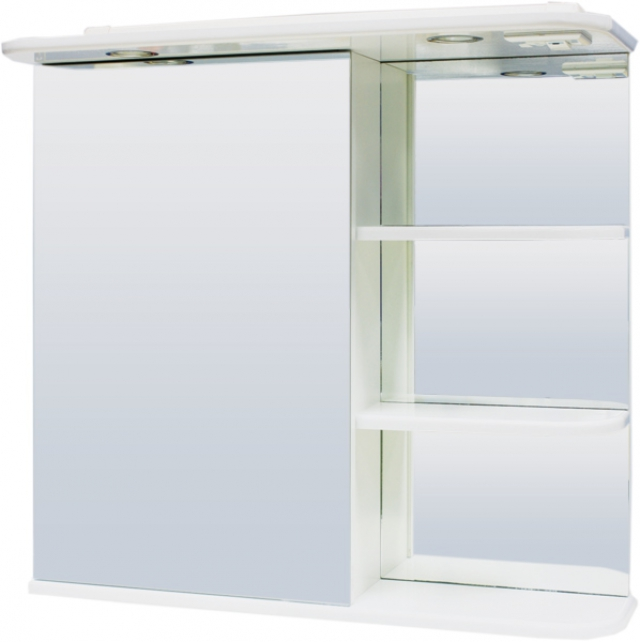 Зеркальный шкаф РС Светлана.СВ. Правый Белый