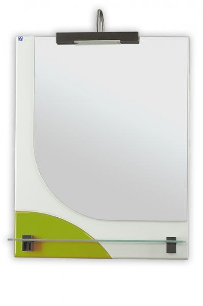 Зеркало РС Мирт-55.СВ белый/яблоко глянец