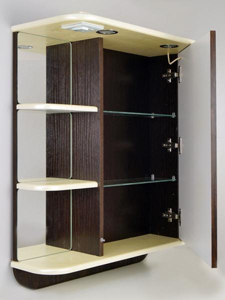 Зеркальный шкаф РС Альфа-65.СВ.Подогрев. Левый венге