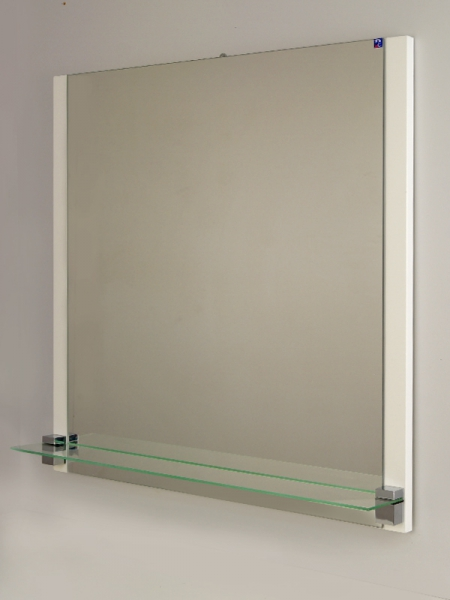 Зеркало РС Джулия-70 с полкой, белое