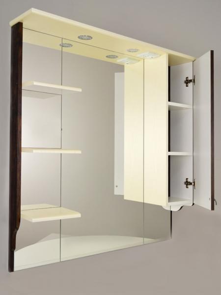 """Зеркальный шкаф """"РС Эльбрус-100"""" цвет венге/ясень жемчужный"""