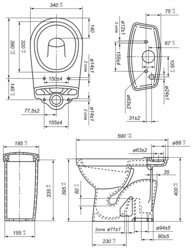 Компакт Суперкомпакт комплект с сиденьем, белый, выпуск в пол