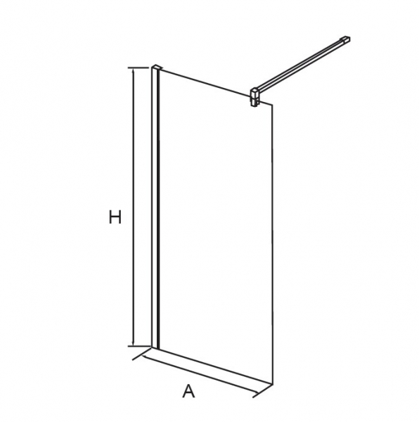 Душевая перегородка RGW WA-01, 120*195 квадрат, прозрачное стекло