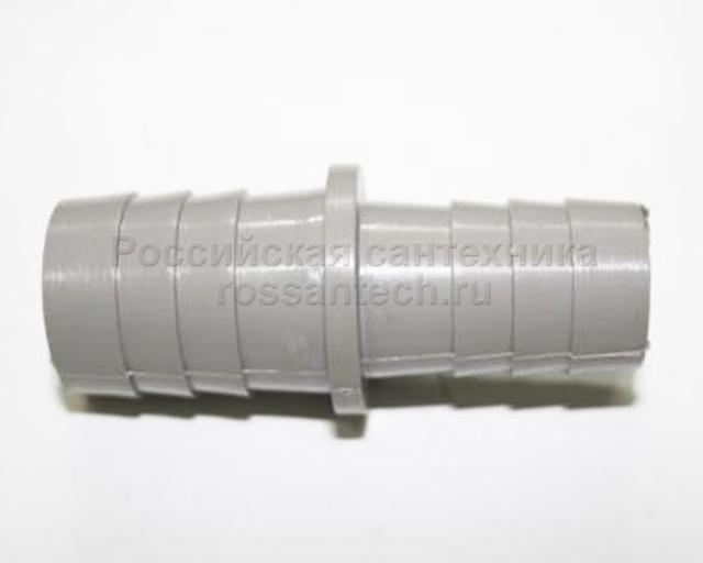 Переходник 19х19 мм для шланга пластмассовый