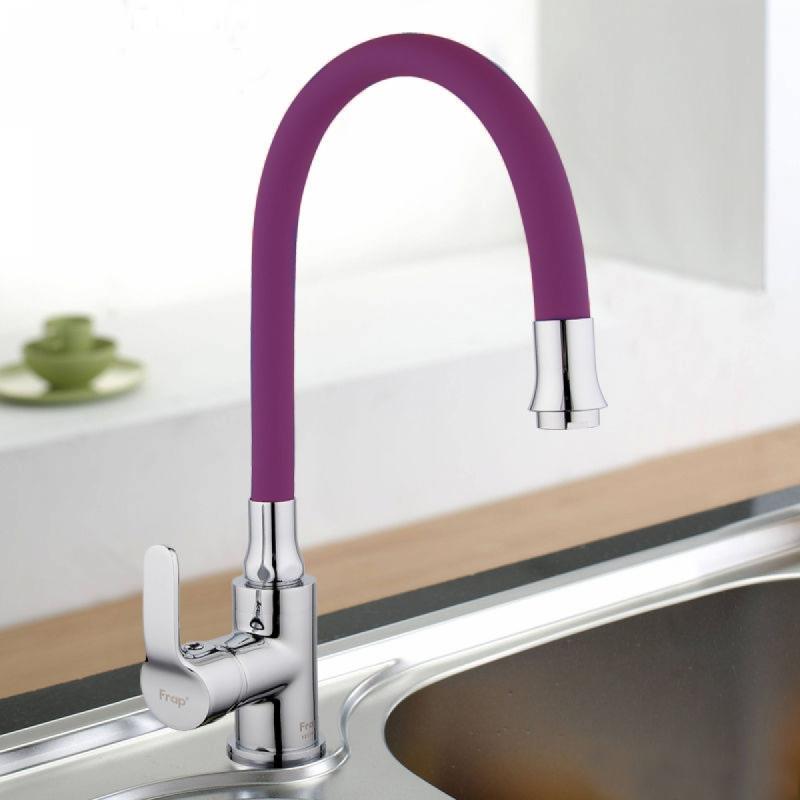 """Гусак смесителя на кухню """"FRAP"""" F7254 фиолетовый"""