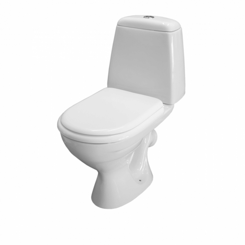 """Компакт """"Керамин Стиль-Люкс Оливейра 4,5/9"""" белый, комплект с сиденьем"""