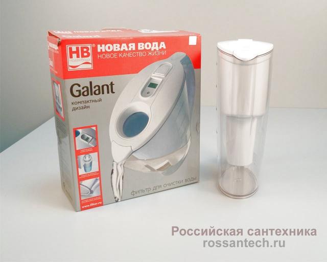 """Фильтр кувшин """"Новая вода"""" Galant Н120/121 электронный счетчик"""