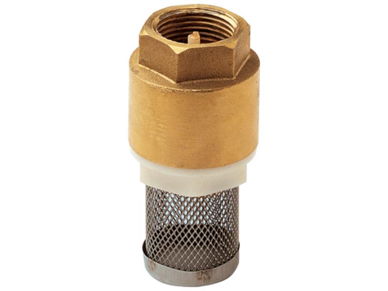 """Обратный клапан 2"""" с сеткой (фильтром) латунь"""