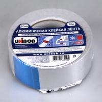 Лента клейкая UNIBOB 50м*50мм алюминиевая (арт.37284)