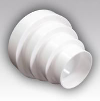 Редуктор круглый переход 80*100*120*150 мм (ПУ15.12.10.8)