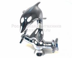 Смеситель тюльпан FRAP F-1020-1 керамика 1/2 дельфин