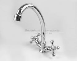 """Смеситель кухни """"FRAP"""" F-4008/4033 керамика 1/2"""" КРЕСТ"""