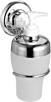 """Дозатор для жидкого мыла """"EverLoc EL-10224"""" на 2 присосках, хром.сталь/пластик"""