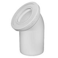 Отвод d110 для унитаза, угол 45, белый (W4220)