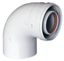 Дымоходный изгиб коаксиальный Baxi d60/100 угол 90 без муфты, арт.KHG714101510