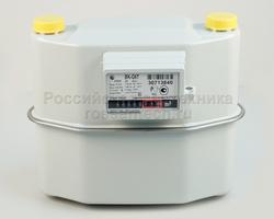 Счетчик газа ВК-G-6Т с t-компенсатором (с адаптером)