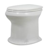 Унитаз Дачный белый, в комплекте с сиденьем