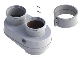 Дымоходный комплект переходной на раздельные трубы Baxi d80  антиоблединительное исполнение, арт.KHG714136210