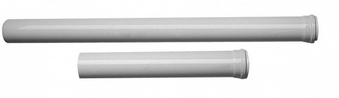 Дымоходная труба эмалированная Baxi 1 м d80, арт.KHG714018310