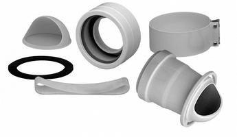 Дымоходный комплект переходной на раздельные трубы Baxi d80 (AFR), арт.KHG714061511/714061512 (Main/Eco Four, Luna)
