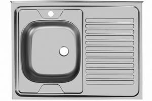 """Мойка """"Юкинокс"""" Стандарт STD800.600-4/5С- накладная, правое крыло (без акс.)"""