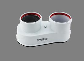 Дымоходный адаптер разделительный Vaillant d80/80, арт.303818