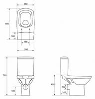 "Компакт ""Cersanit CARINA new Clean on"" с сиденьем дюропласт микролифт (арт.S-KO-CAR011-3/5-СОn-DL-w)"