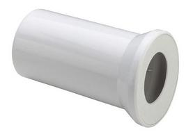 Патрубок d110 для унитаза, прямой 250мм, белый