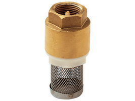 """Обратный клапан 1.1/2"""" с сеткой (фильтром) лат."""