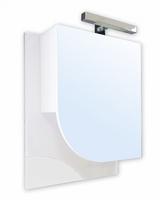 Зеркальный шкаф РС Мирт 55 СВ Бел глянец