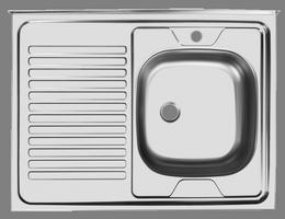 Мойка Юкинокс Стандарт STD800.600-4/5С накладная, левое крыло, без аксессуаров