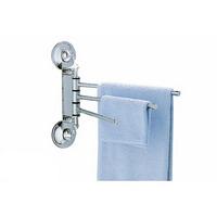 """Вешалка для полотенец EverLoc EL-10240 """"Три выдвижные планки"""" на 2 присосках, хром.сталь"""