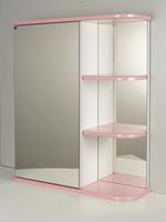 Зеркальный шкаф РС Дебют-55. Правые полки Розовый