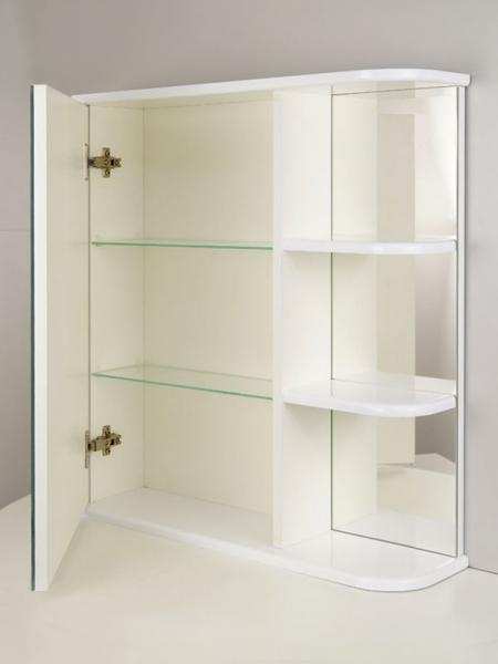 """Зеркальный шкаф """"РС Сияние-65. Правый"""" Белый"""