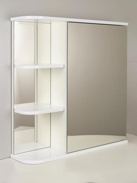 """Зеркальный шкаф """"РС Сияние-65. Левый"""" Белый"""