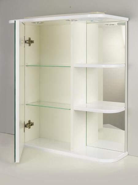 Зеркальный шкаф РС Дебют-55 СВ. Правые полки Белый