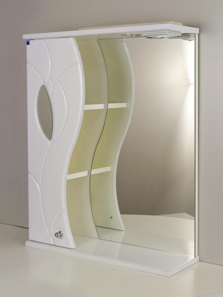 Зеркальный шкаф РС Тюльпан 55.СВ Правая полка белый